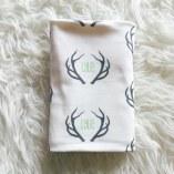 Baby Name Antler Blanket