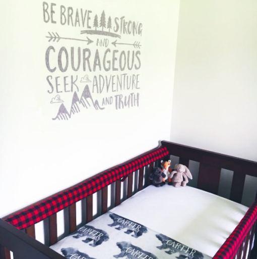 "Custom ""Novato"" Baby Bear Blanket"