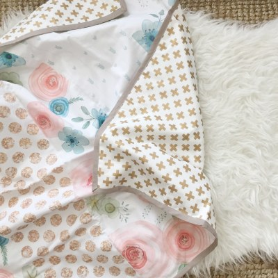 Wholecloth Flower Crib Quilt