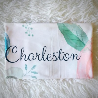 Personalized Flower Blanket