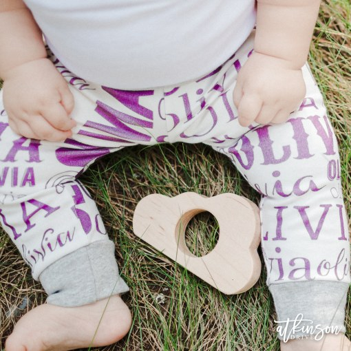 Show off your little one's unique style with these name leggings from Atkinson Drive Organics!