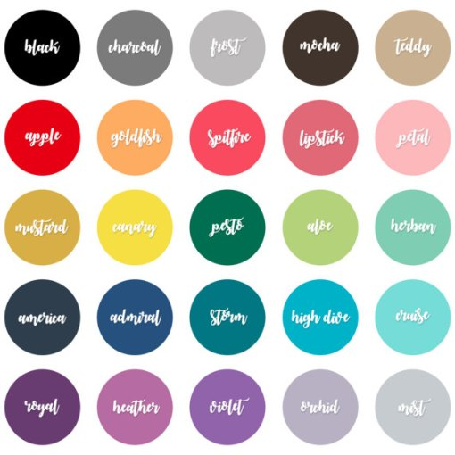 Custom Color Selections