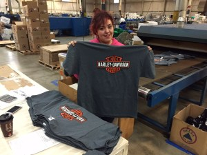 Gray Shirts Just Printed - Marshall Atkinson