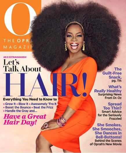 First Look Oprah Shows Off Huge Afro On Magazine Cover Atlanta