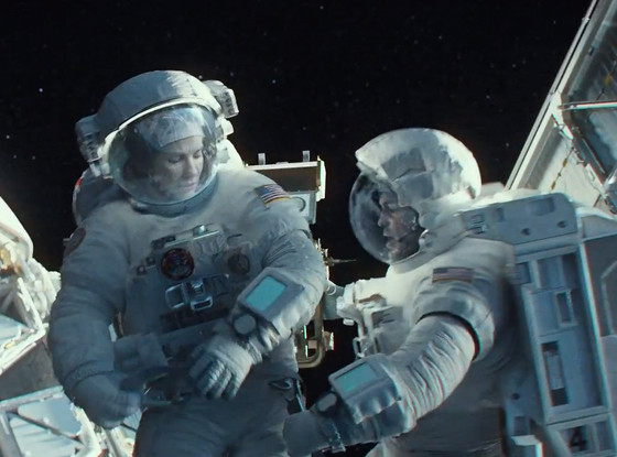 Gravity Trailer Screenshot Sandra Bullock George Clooney