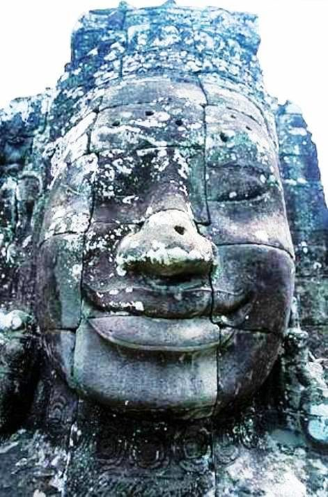 A FACE FROM THE BAYON