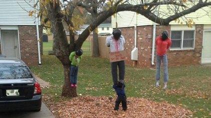 Racist Halloween display lynching