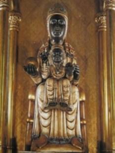 La Moreneta.  Black Madonna and Child statue at Montserrat, Spain.  Date unknown.  Photo courtesy of Runoko Rashidi