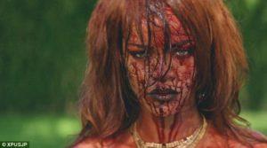 Screenshot from Rihanna's new video, BBHMM