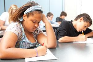 Black Student Taking Test