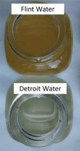 Flint water before and after