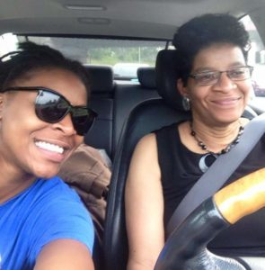 Sandra Bland, left, with her mother Geneva Reed-Veal, on a road trip just days before Bland's death.