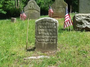 A local preservation group discovered missing flags at the African American Cemetery in Rye, New York. Courtesy FAAC Facebook.