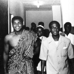 Muhammad Ali with Ghanian President Kwame Nkrumah.