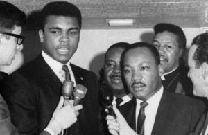 Muhammad Ali with Dr. Martin Luther King, Jr.