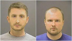 Baltimore Police Officers Edward Nero, left, and Garrett Miller, right, filed a joint defamation suit against Mosby.