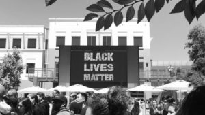 """Facebook put up a large """"Black Lives Matter"""" sign outside its headquarters following the deaths of Alton Sterling and Philando Castile. Image courtesy of Fusion.net"""
