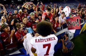 Colin Kaepernick in his 49ners jersey (Death and Taxes Twitter)