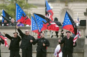 White supremacists rallying. Photo by John Flavell / AP