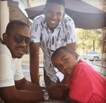 """What could be sweeter than Campell-Martin describing the love their sons Xen and Ezekiel have for their dad on his birthday? """"They admire, emulate and love youuuuuuuu and no present can be greater!"""" (@tishacampbellmartin/Instagram)"""