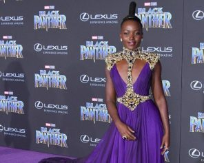 Lupita at Black Panther Screening