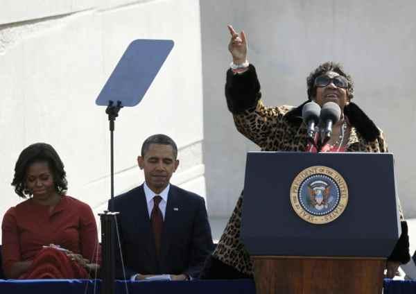 Barack Obama, Aretha Franklin, Michelle Obama