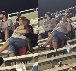 White Woman Hugs Black Boy