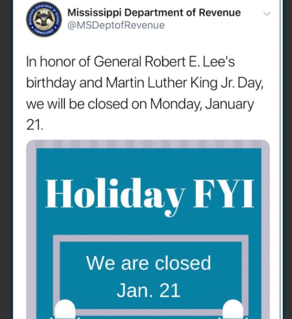MLK Robert E. Lee Tweet