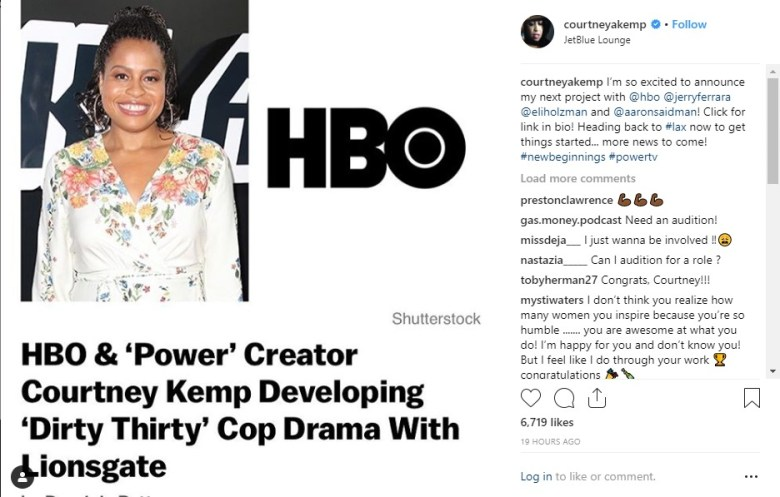 """Courtney Kemp announces new show on HBO called """"The Dirty Thirty."""""""