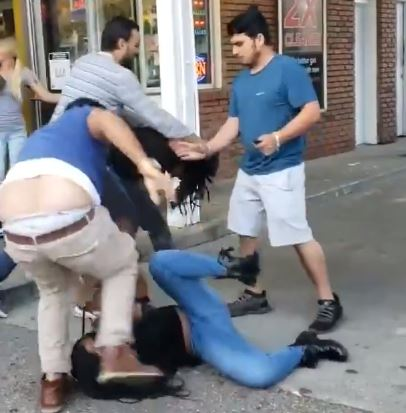 Gas station fight