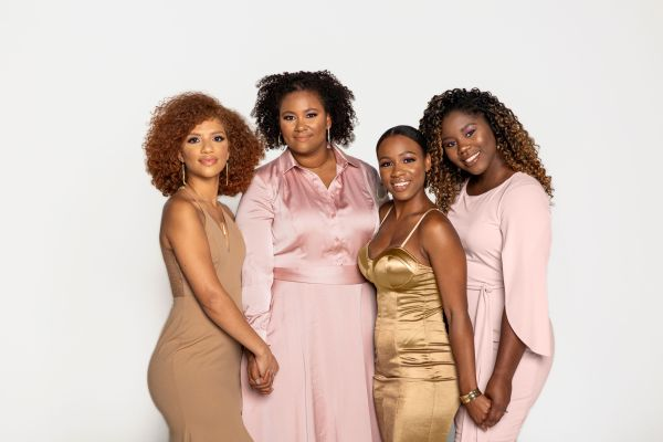 Breast cancer survivors in pink and gold