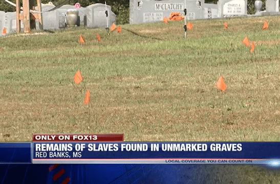 Slave graves found at Red Banks Cemetery