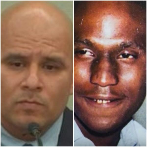 Cop and victim headshots
