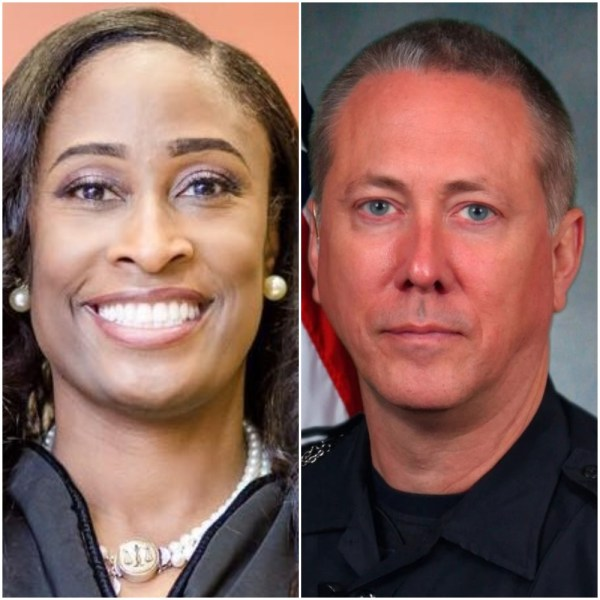 Judge LaTisha Dear-Jackson and ex-Georgia cop Robert Olsen