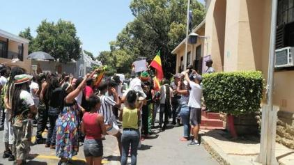 Rastafarians Protest Police Brutality