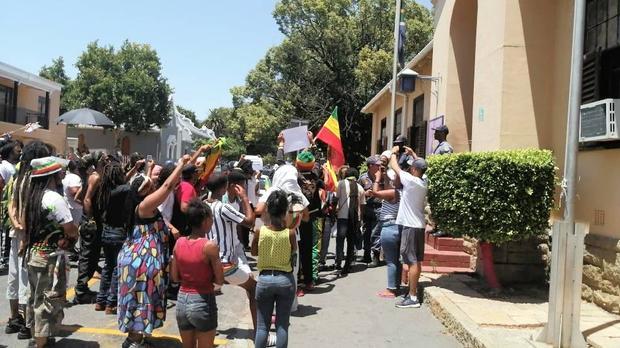Rastafarians Protest Police Brutality