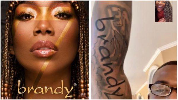 Brandy Ray J tattoo 1st album cover
