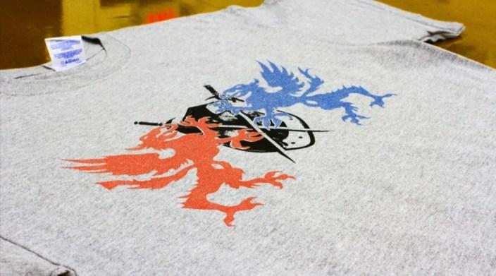 Dragons - Metallic Ink Screen Printing
