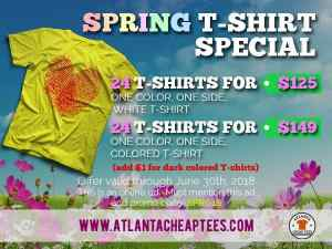 spring t-shirt printing special