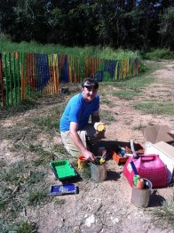 Volunteers install new pieces for the annual Art on the Atlanta BeltLine