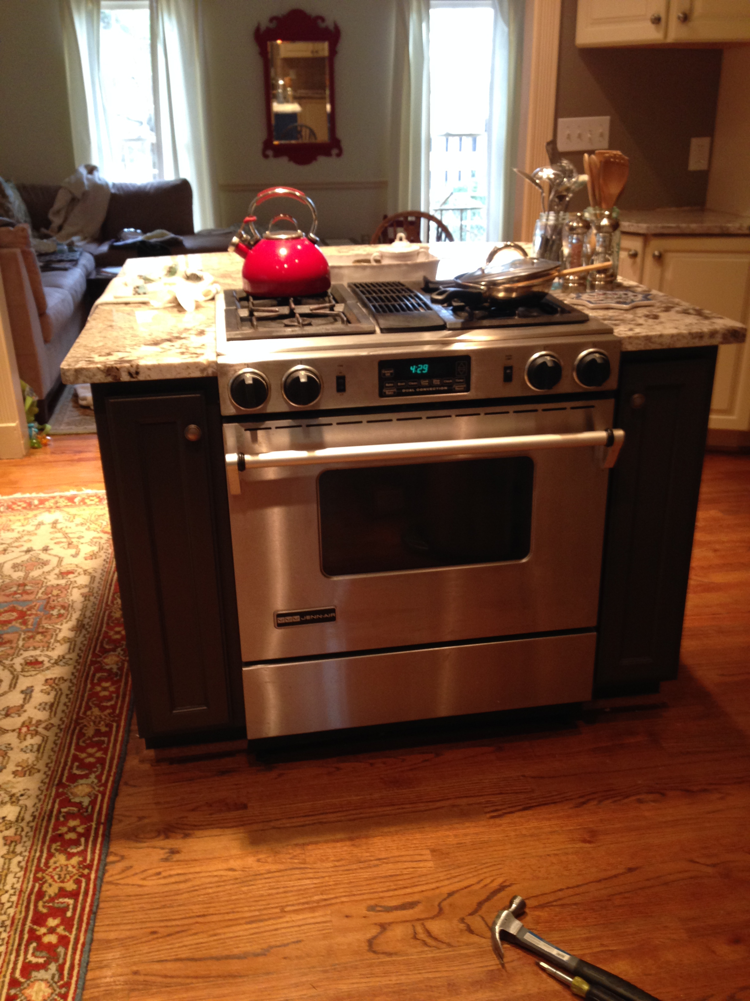 kitchen island with oven wholesale sinks custom atlanta curb appeal