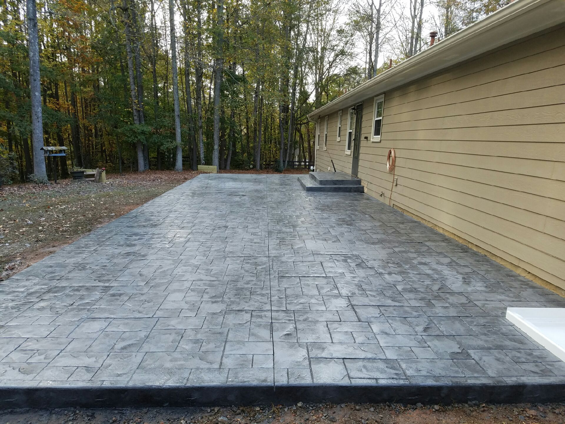 stamped concrete design ideas for your backyard   custom