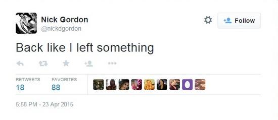 Nick-Gordon-Out-of-Rehab-Tweet-1