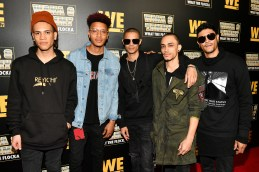 """ATLANTA, GEORGIA - MARCH 10: (L-R) Bryan Jesse, Carnell Frederick, Patrick Owen, Kelly Allen, and Dustin Michael of B5 attend the premiere of """"Waka & Tammy: What The Flocka"""" at Republic on March 10, 2020 in Atlanta, Georgia. (Photo by Paras Griffin/Getty Images WE tv)"""
