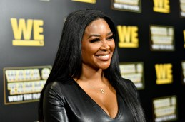 """ATLANTA, GEORGIA - MARCH 10: Kenya Moore attends the premiere of """"Waka & Tammy: What The Flocka"""" at Republic on March 10, 2020 in Atlanta, Georgia. (Photo by Paras Griffin/Getty Images WE tv)"""