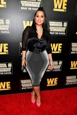 """ATLANTA, GEORGIA - MARCH 10: Tammy Rivera attends the premiere of """"Waka & Tammy: What The Flocka"""" at Republic on March 10, 2020 in Atlanta, Georgia. (Photo by Paras Griffin/Getty Images WE tv)"""