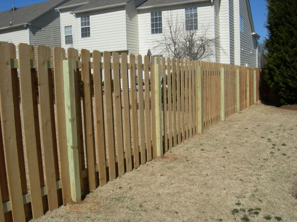 Shadowbox Fence Design Wooden Plans Patio Deck