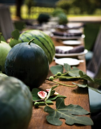 A variety of heirloom watermelons makes for a striking tableau.