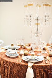 Dazzling Display With Baccarat glassware, Meissen china, Pampaloni flatware and a Saint-Louis crystal candelabra, OwenLawrence takes holiday entertaining to a new level of elegance.