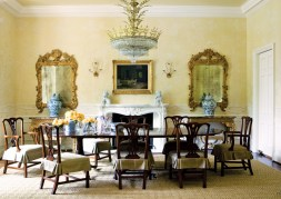 78) This soft yellow dining room by Suzanne Kasler is elegant, yet as cheerful as sunshine.